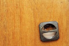 Detail of old furniture handle Royalty Free Stock Photo