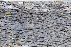 Detail of old Galician slate roof, Spain. Royalty Free Stock Images