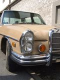 Detail of Old German limousine, Mercedes Benz Royalty Free Stock Photography