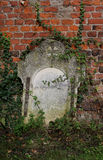 Detail of Old Gravestone Royalty Free Stock Images