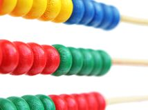 Detail of a wooden abacus Stock Photo