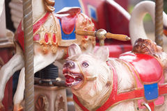 Detail of a old historic carousel Stock Photography