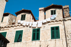 Detail of an old historic house in Dubrovnik Stock Images