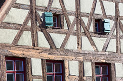 Detail of an old house in dinkelsbühl Royalty Free Stock Images