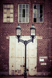 Detail of Old industrial building in Gdansk Stock Photography