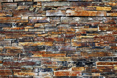 Detail from a old Irish stone wall with rectangular shaped stones Stock Images