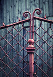 Detail of an old iron fence Stock Photos