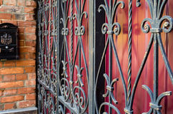 Detail of an old iron fence Stock Images