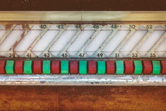 Detail of an old jukebox Stock Photography