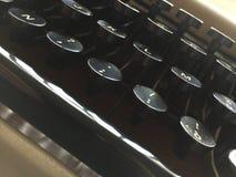Detail of old keyboard Royalty Free Stock Image