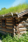 Detail of old log-cabin Royalty Free Stock Photo