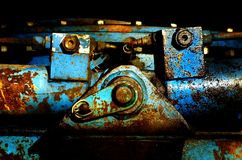 Detail of and old machine royalty free stock image