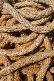 Detail of old marine rope Stock Images