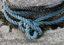 Detail of old maritime rope Stock Photo