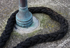 Detail of old maritime rope Royalty Free Stock Photography