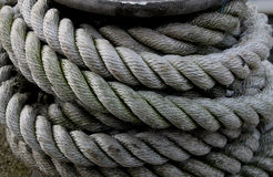 Detail of old maritime rope Royalty Free Stock Image