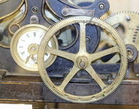 Detail of a old mechanical clock Stock Photos