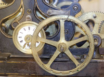 Detail of a old mechanical clock Stock Image