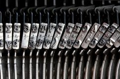 Detail of the old mechanical typewriter Stock Images