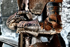 Detail of an old medieval armor. Stock Images