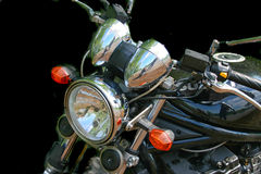 Detail of old motorbike Stock Photo