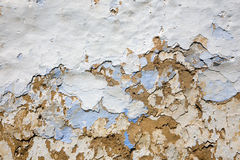 Detail of old mud coating on the house Stock Images