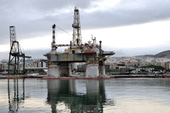 Detail of an old oil rig, in Santa Cruz de Tenerife, Canary Is. Stock Photos
