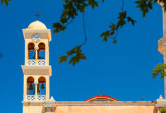 Detail of the old orthodox church bell tower Stock Image