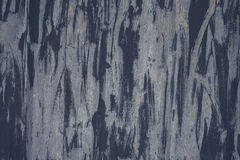 Detail of the old painted metal surface with clear structure, closeup Royalty Free Stock Photography