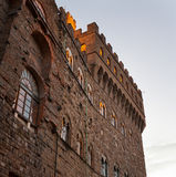 Detail of the Old Palace at evening, Florence Royalty Free Stock Photo