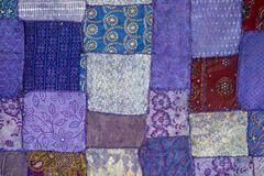 Detail of a old patchwork carpet Stock Photography