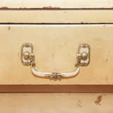 Detail of old peach furniture, square image Stock Photo