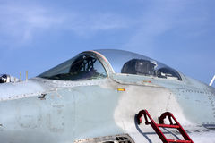 Detail of old plane mig 29 Royalty Free Stock Photo
