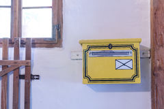 Detail of old post box in the room Royalty Free Stock Image