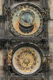 Detail of old prague clock. Very nice detail of old Prague clock Royalty Free Stock Photos
