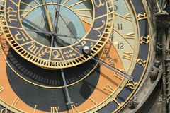 Detail of old prague clock Royalty Free Stock Photo