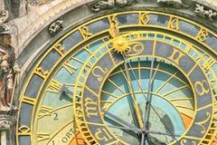Detail of old Prague clock Stock Images