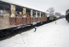 Detail of a old railway car Royalty Free Stock Image