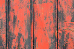 Detail of old red metal door Stock Photo