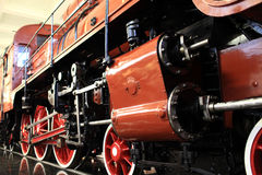 Detail of old red train Stock Photography