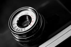 Detail of old retro camera Stock Photos