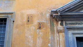 Detail of Old Rome Building Royalty Free Stock Photo