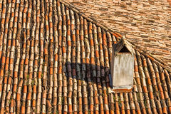 Detail of old roofing Stock Images
