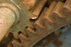 Detail of old rusty gears Royalty Free Stock Photo
