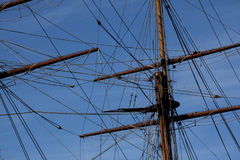 Old sailing ship - detail Royalty Free Stock Photos