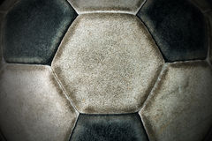 Detail of an Old Soccer Ball Royalty Free Stock Images