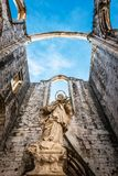 Ruins of the Convent of Our Lady of Mount Carmo Royalty Free Stock Photos