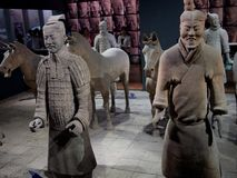Detail of old statues in China ; Terracotta Army stock photos