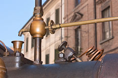 Detail of an old steam boiler Royalty Free Stock Image
