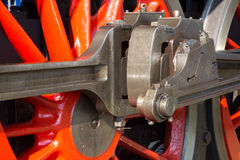 Detail of old steam locomotive Royalty Free Stock Images